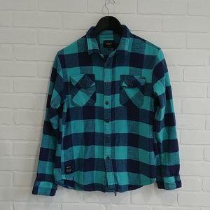 Huf plaid shirt